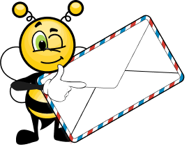 Bee with letter