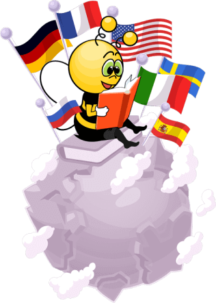 Bee with a globe