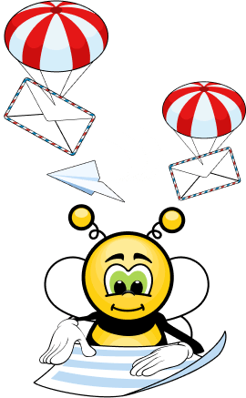Пчёлка FunEasyLearn читает буквы