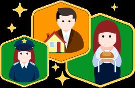 Oameni cu profesii diferite învață cursul de olandeză